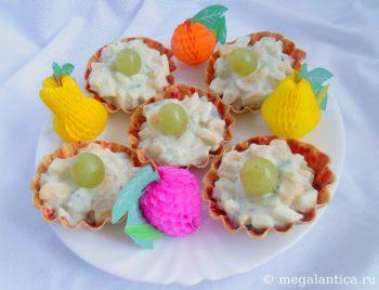 тарталетки с фруктовым салатом - рецепт с фото