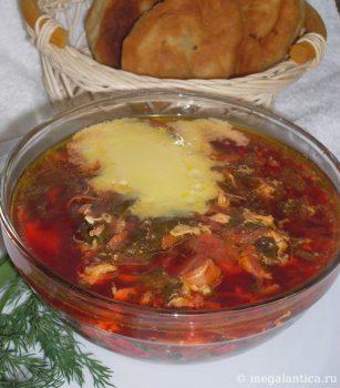 как приготовить зеленый борщ - рецепт с фото