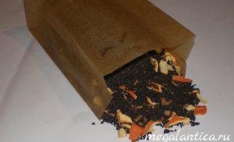 Как сделать бумажный пакет для хранения чая