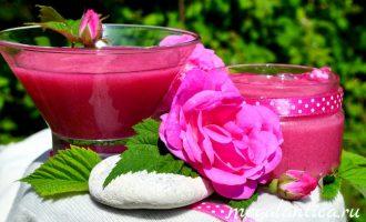 Сырое варенье из чайной розы
