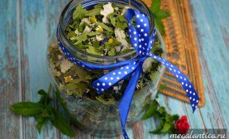 Заварка для чая из листьев и цветов