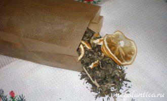 Зеленый чай с лимоном и мелиссой