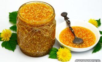 мёд из одуванчиков с кунжутом