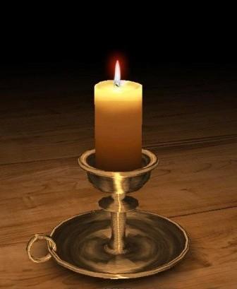 андроид свеча в подсвечнике