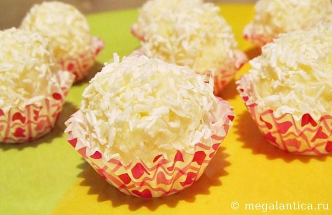 как приготовить кокосовые конфеты - рецепт ч фото
