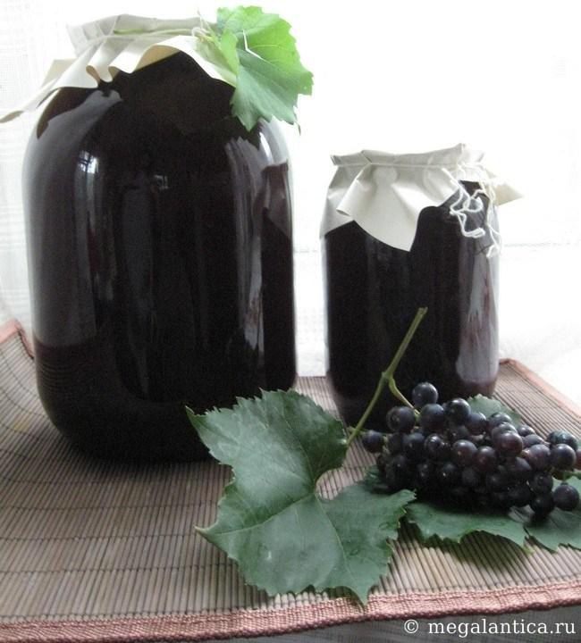 как заготовить виноградный сок на зиму