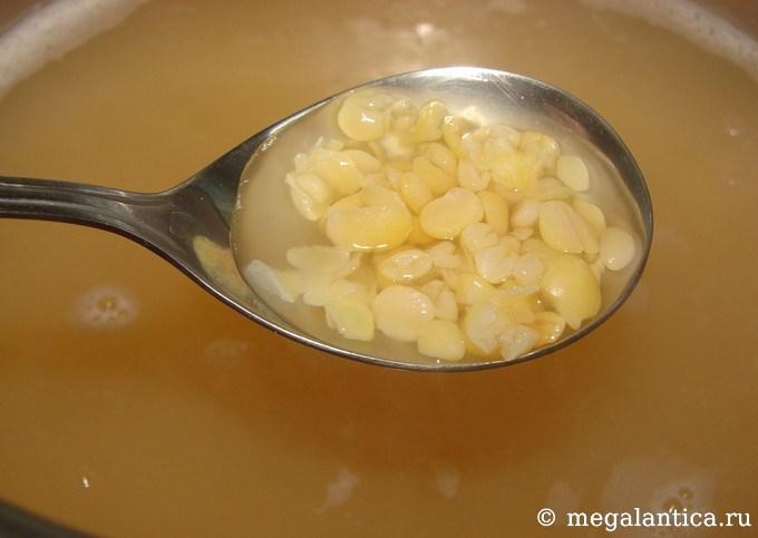 Постный гороховый суп с цветной капустой