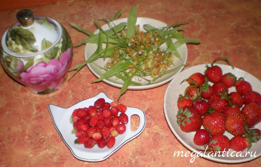 Чай с липой, клубникой и земляникой