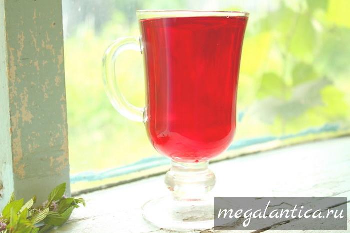 холодный чай из каркаде