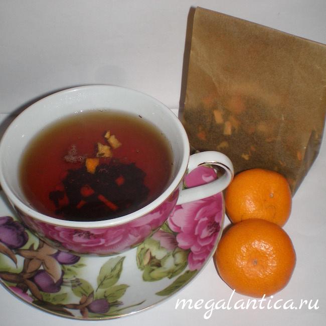 Черный чай с апельсином