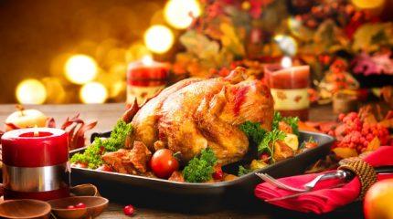 Ароматный рождественский гусь, запеченный с апельсинами