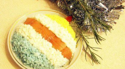 Салат «Разноцветный новогодний шар»